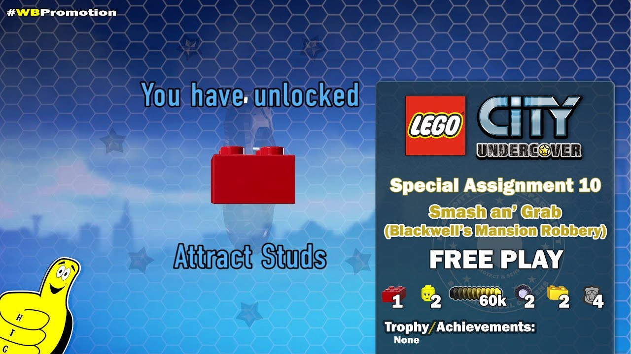 Lego City Undercover: Special Assignment 10 Smash an' Grab (Blackwell's Mansion) FREE PLAY – HTG