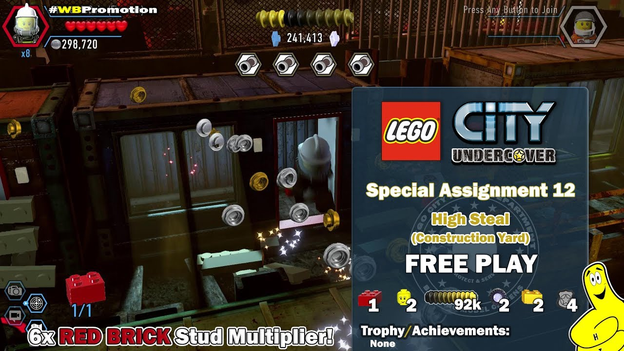 Lego City Undercover: Special Assignment 12 High Steal (Construction Yard) FREE PLAY – HTG