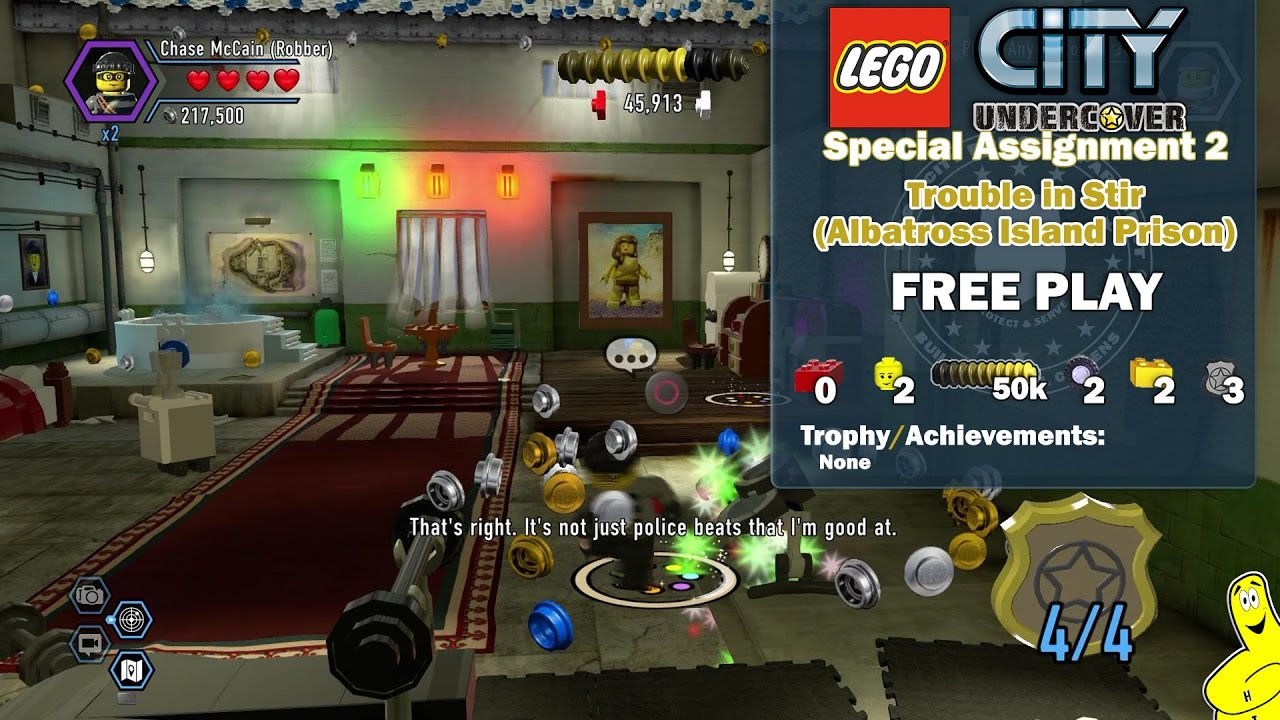 Lego City Undercover: Special Assignment 2 Trouble in Stir (Albatross Island Prison) FREE PLAY – HTG