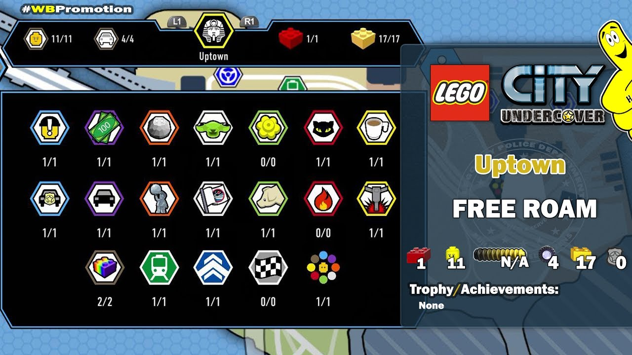 Lego City Undercover: Uptown FREE ROAM (All Collectibles) – HTG