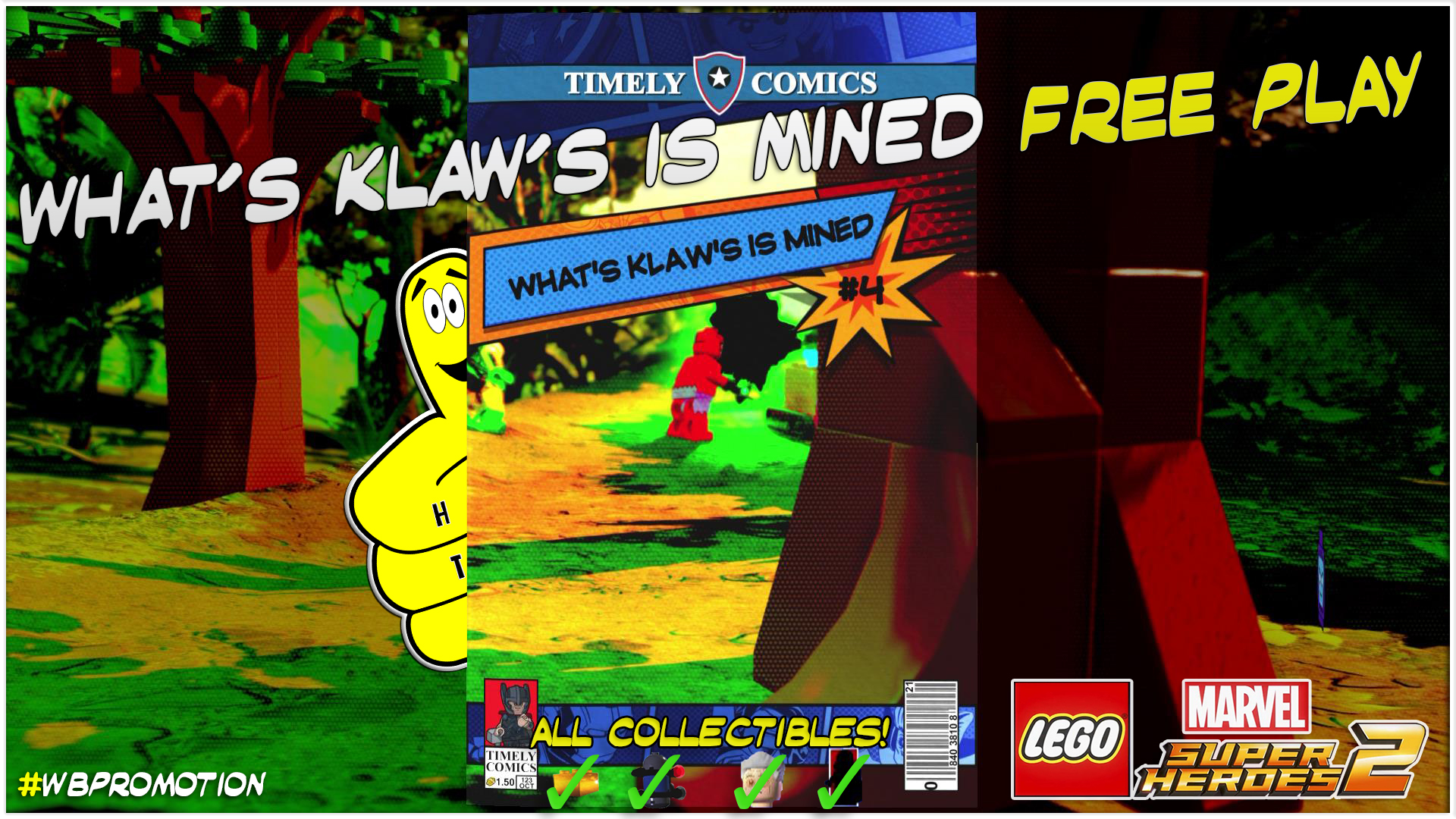 Lego Marvel Superheroes 2: Lvl 4 / What's Klaw's Is Mined FREE PLAY (All Collectibles) – HTG