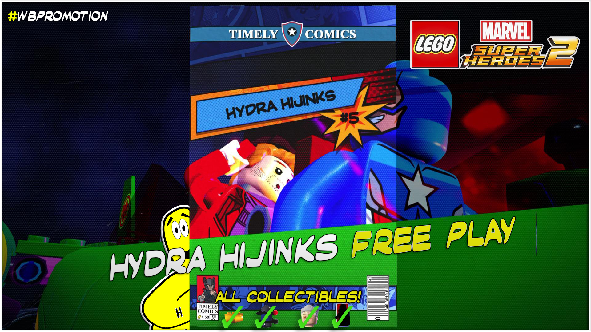 Lego Marvel Superheroes 2: Level 5 / Hydra Hijinks FREE PLAY (All Collectibles) – HTG