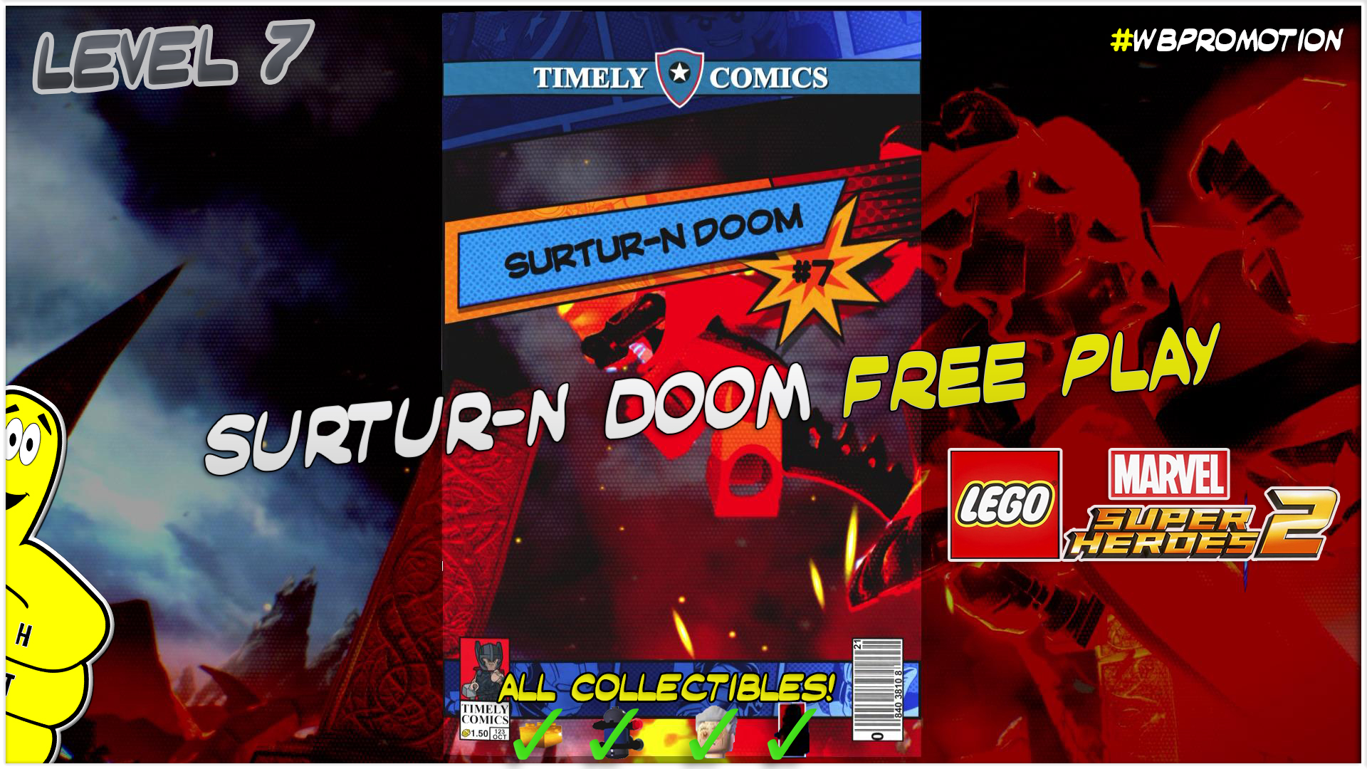 Lego Marvel Superheroes 2: Level 7 / Surtur-N Doom FREE PLAY (All Collectibles) – HTG
