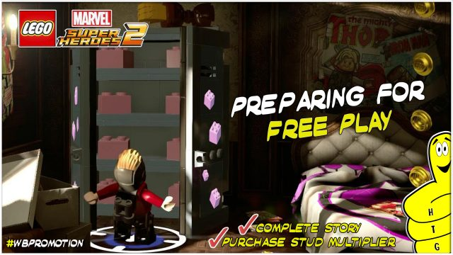 Lego Marvel Superheroes 2: Preparing for FREE PLAY (How to find FREE PLAY and Pink Bricks) – HTG