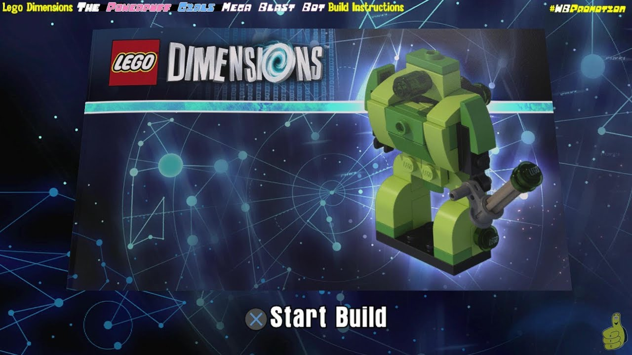 Lego Dimensions: Mega Blast Bot / Build Instructions (The Powerpuff Girls FUN Pack #71343) – HTG
