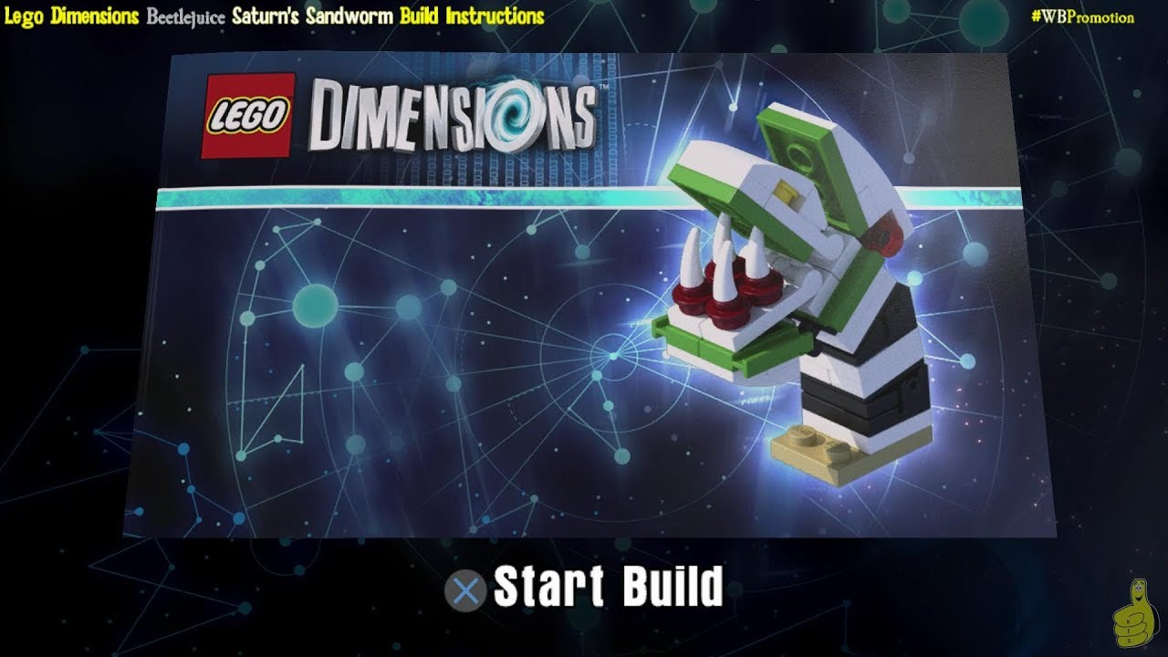 Lego Dimensions: Saturn's Sandworm / Build Instructions (Beetlejuice FUN Pack #71349) – HTG