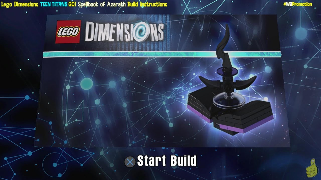 Lego Dimensions: Spellbook of Azarath / Build Instructions (Teen Titans Go! TEAM Pack #71255) – HTG