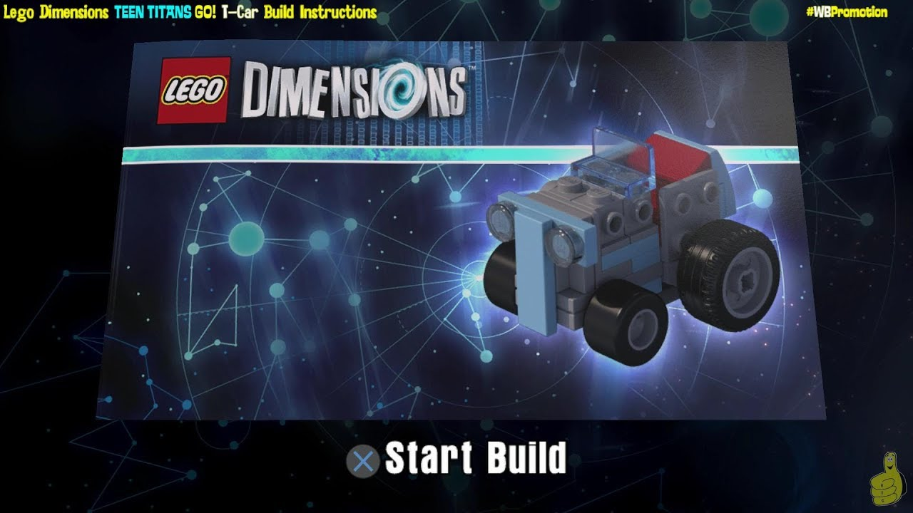 Lego Dimensions: T-Car / Build Instructions (Teen Titans Go! TEAM Pack #71255) – HTG