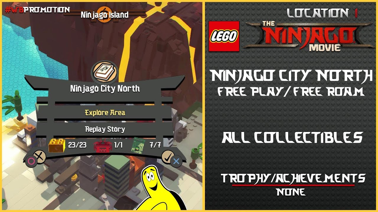 Lego Ninjago Movie Videogame: Ninjago City North FREE PLAY / FREE ROAM (All Collectibles) – HTG