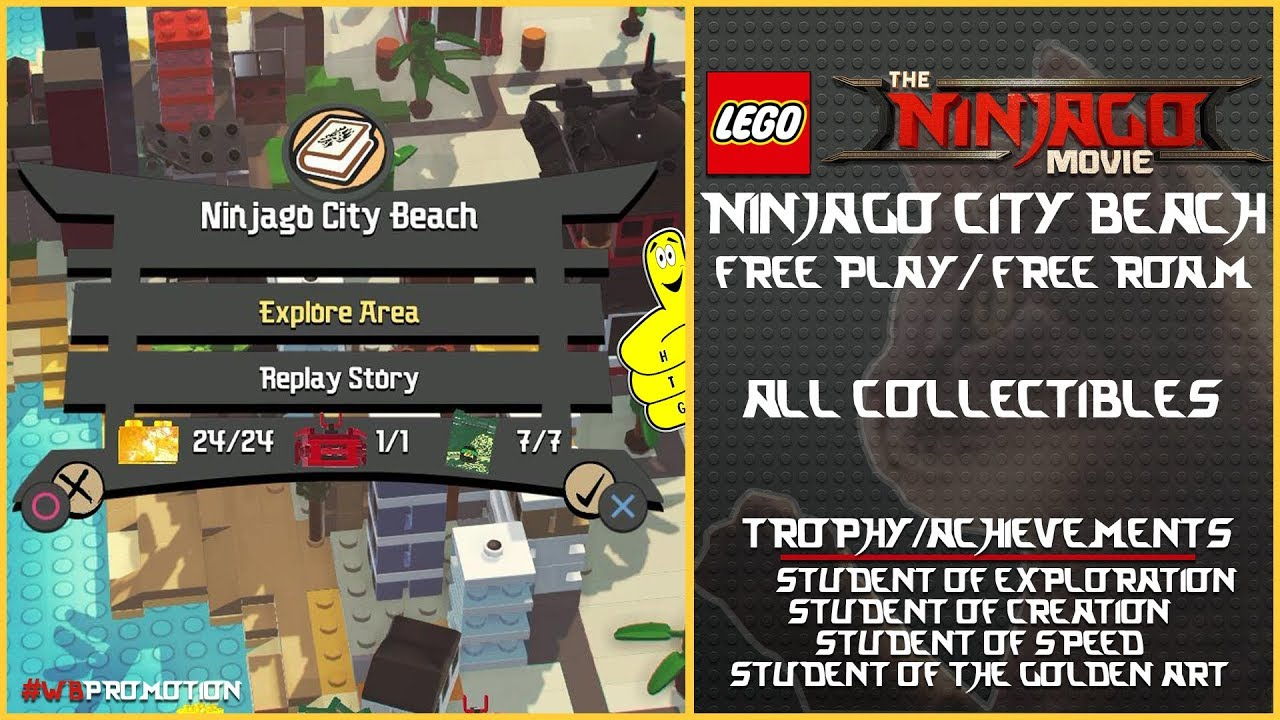 Lego Ninjago Movie Videogame: Ninjago City Beach FREE PLAY/FREE ROAM (AllCollectibles) – HTG