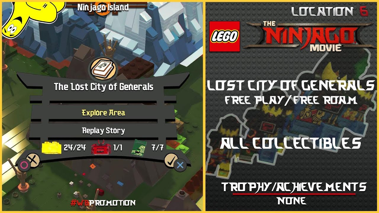 Lego Ninjago Movie Videogame: The Lost City of Generals FREE PLAY/FREE ROAM (All Collectibles) – HTG