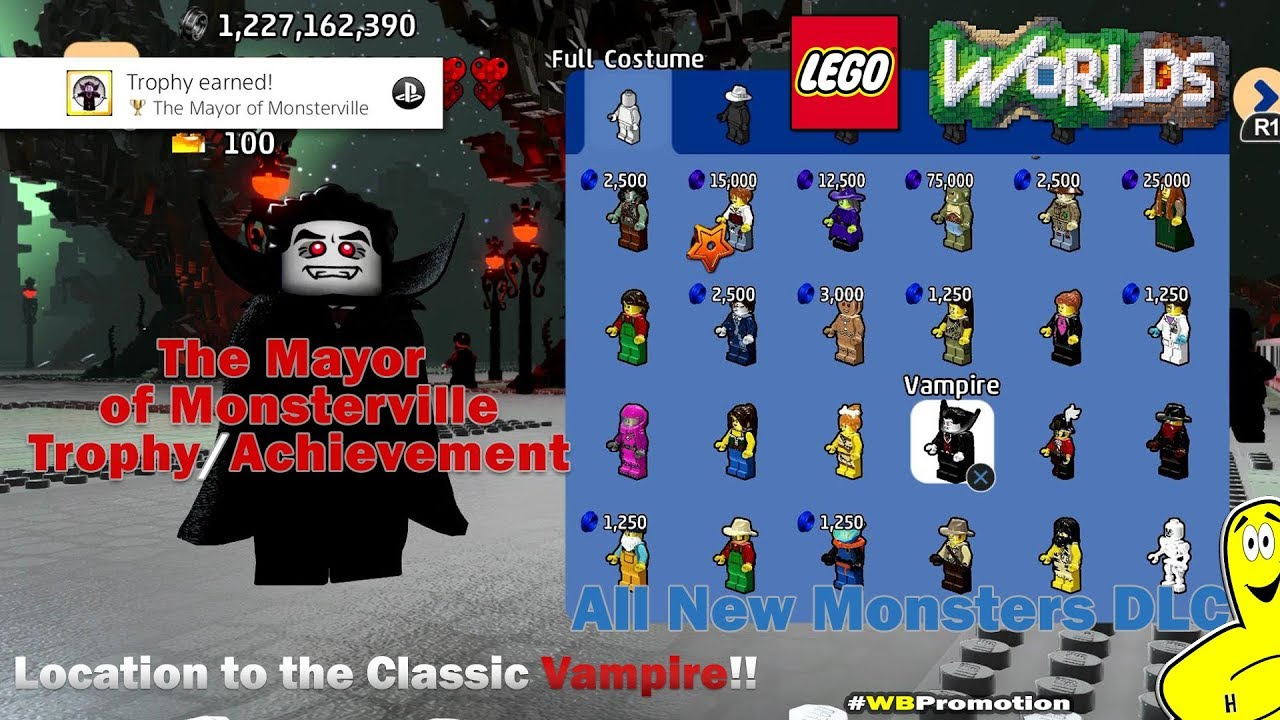Lego Worlds:  Mayor of Monsterville Trophy/Achievement (Monsters DLC) – HTG