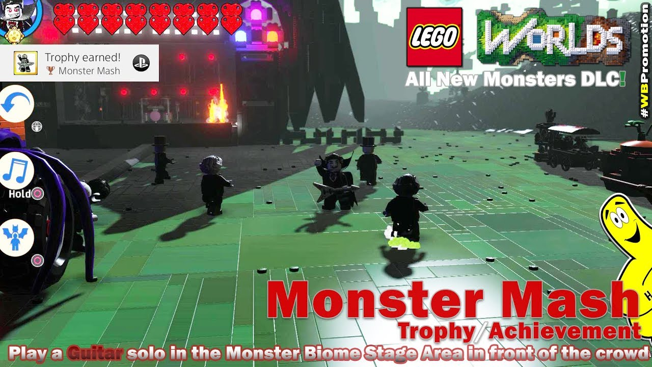 Lego Worlds:  Monster Mash Trophy/Achievement (Monsters DLC) – HTG