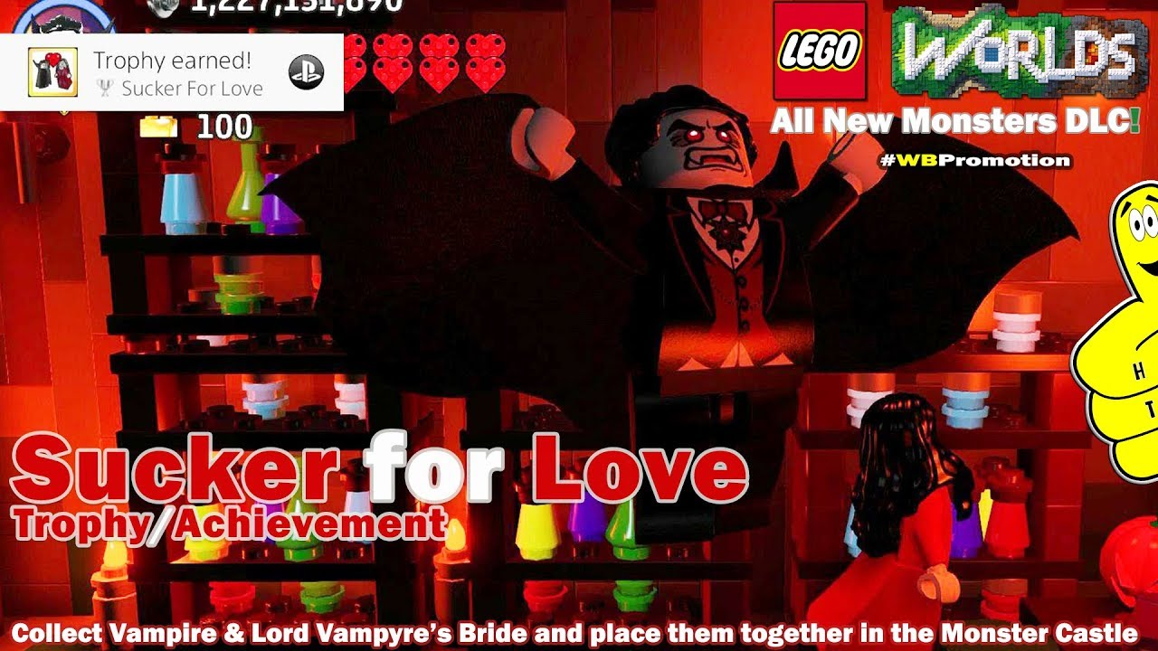 Lego Worlds: Sucker for Love Trophy/Achievement (Monsters DLC) – HTG