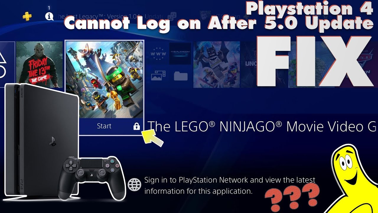 Sony Playstation 4 Cannot Log on to PSN after 5.0 Update FIX (PSN Log in issues) – HTG