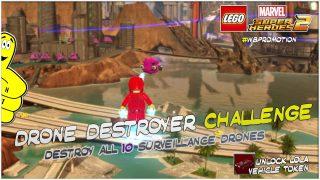 Lego Marvel Superheroes 2: Drone Destroyer Challenge – HTG
