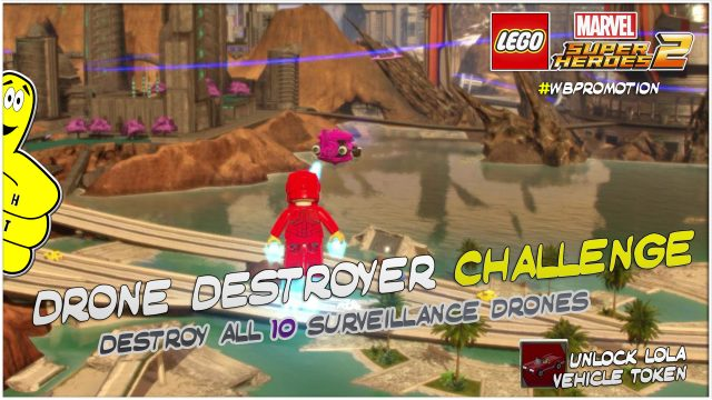 Lego Marvel Superheroes 2: Drone Destroyer Challenge – HTG