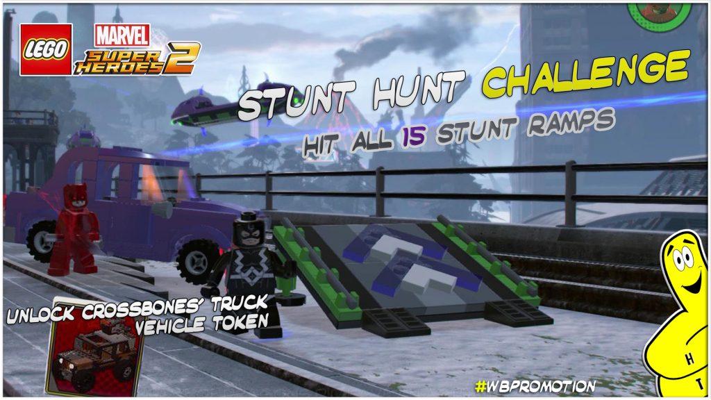Lego Marvel Superheroes 2 Stunt Hunt Challenge Htg Happy Thumbs