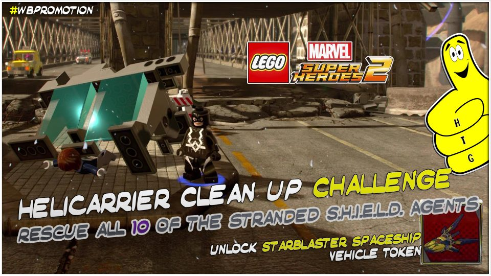 Lego Marvel Superheroes 2: Helicarrier Clean Up Challenge – HTG