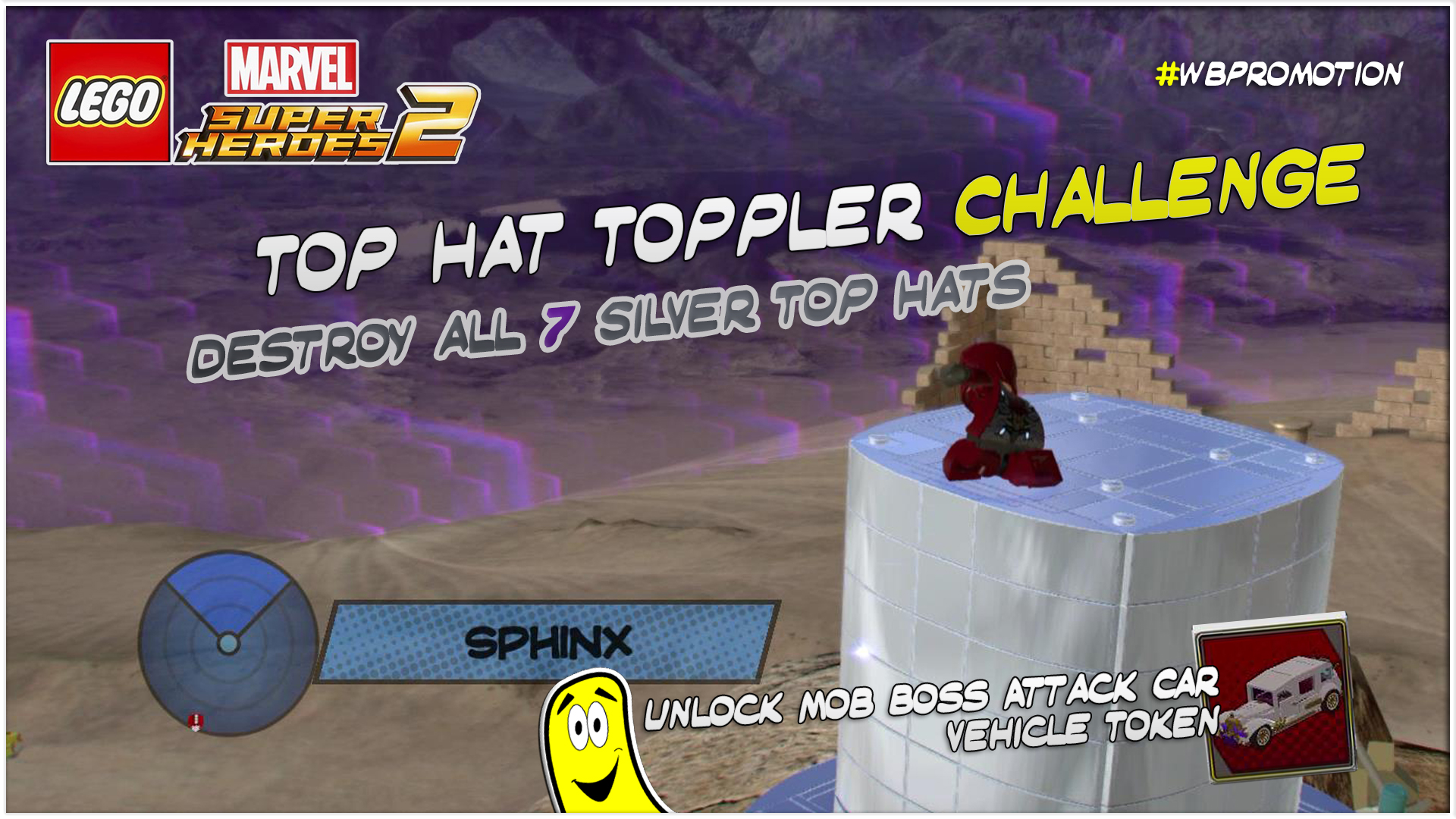 Lego Marvel Superheroes 2: Top Hat Toppler Challenge – HTG