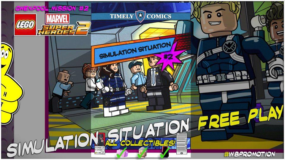Lego Marvel Superheroes 2: Gwenpool Mission 2 / Simulation Situation FREE PLAY – HTG