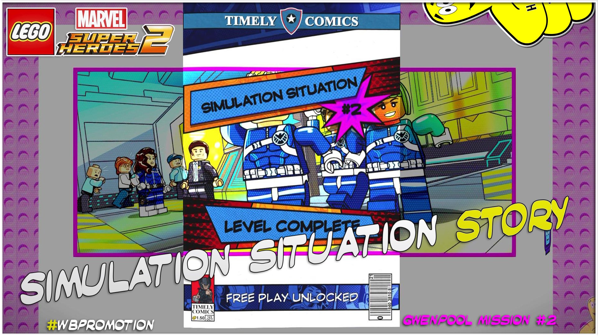 Lego Marvel Superheroes 2: Gwenpool Mission 2 / Simulation Situation STORY – HTG