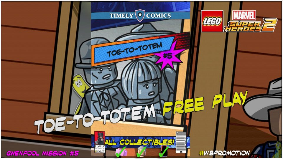 Lego Marvel Superheroes 2: Gwenpool Mission 5 / Toe-to-Totem FREE PLAY – HTG