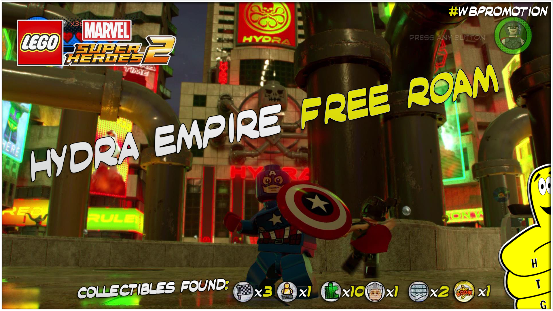 Lego Marvel Superheroes 2: Hydra Empire FREE ROAM (All Collectibles) – HTG