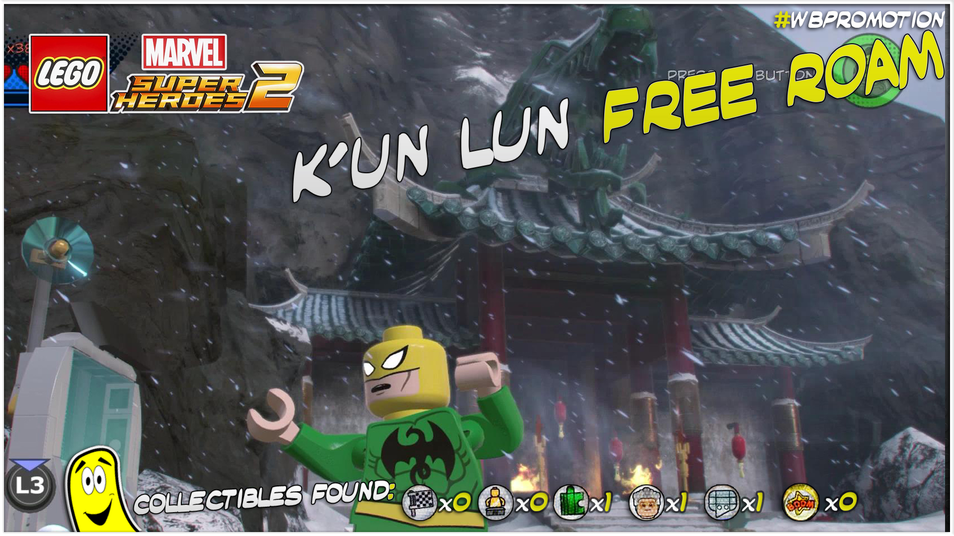 Lego Marvel Superheroes 2: K'un Lun FREE ROAM (All Collectibles) – HTG