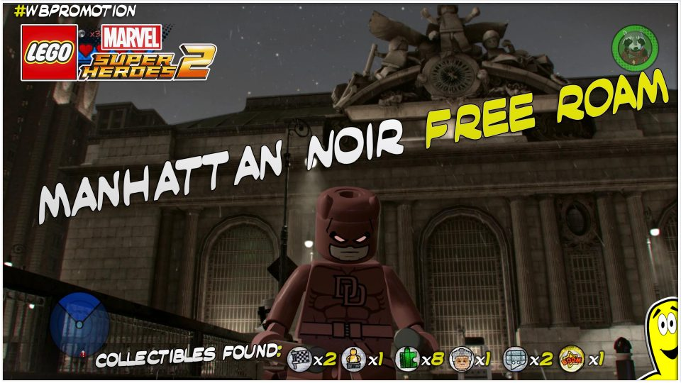 Lego Marvel Superheroes 2: Manhattan Noir FREE ROAM (All Collectibles) – HTG