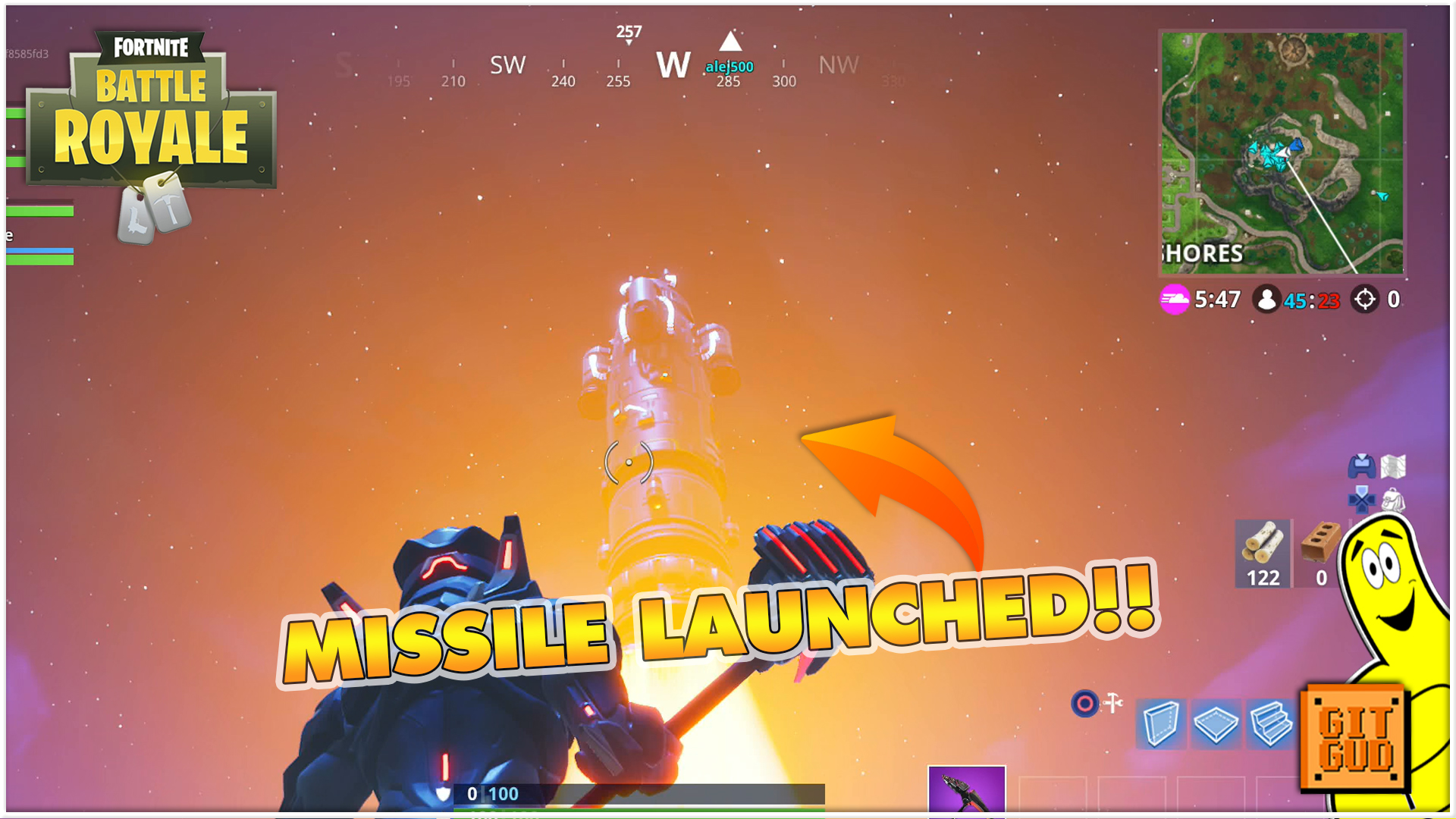 Fortnite Battle Royale: Missile Launch!!! – HTG