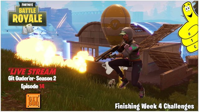 Fortnite: Finishing Week 4 Challenges (5/24/18) – HTGtv
