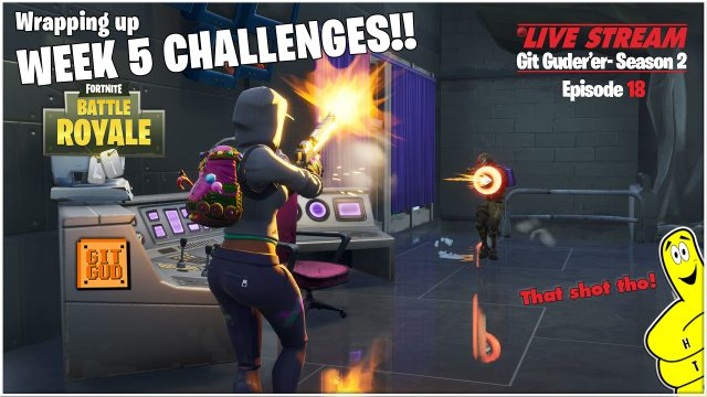 Fortnite Battle Royale: Wrapping up Week 5 Challenges!  (6/1/18) – HTGtv