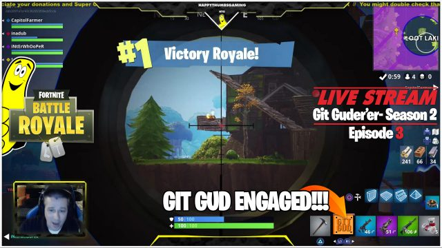 Fortnite Battle Royale: Git Guder'er Season 2 Ep 3 / Victory Royale! (5/2/18) – HTGtv