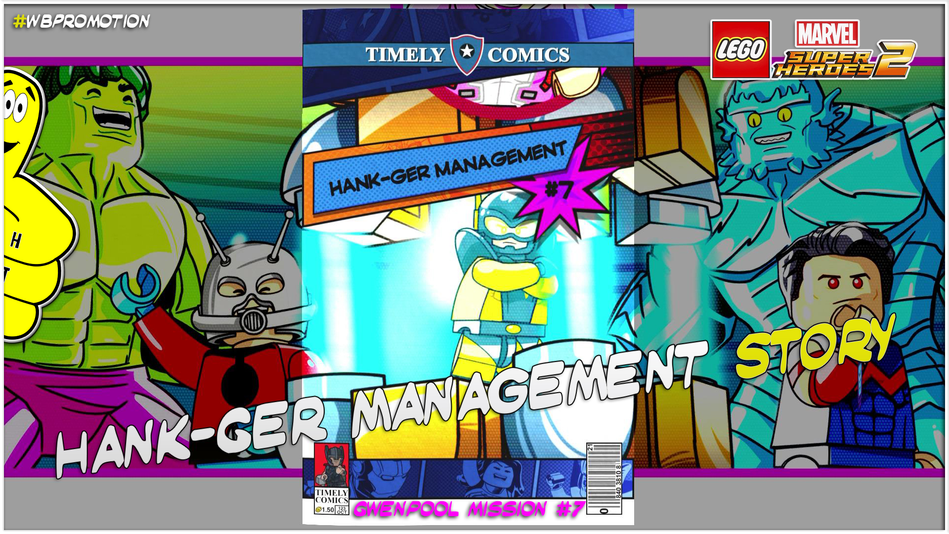 Lego Marvel Superheroes 2: Gwenpool Mission 7 / Hank-ger Management STORY – HTG