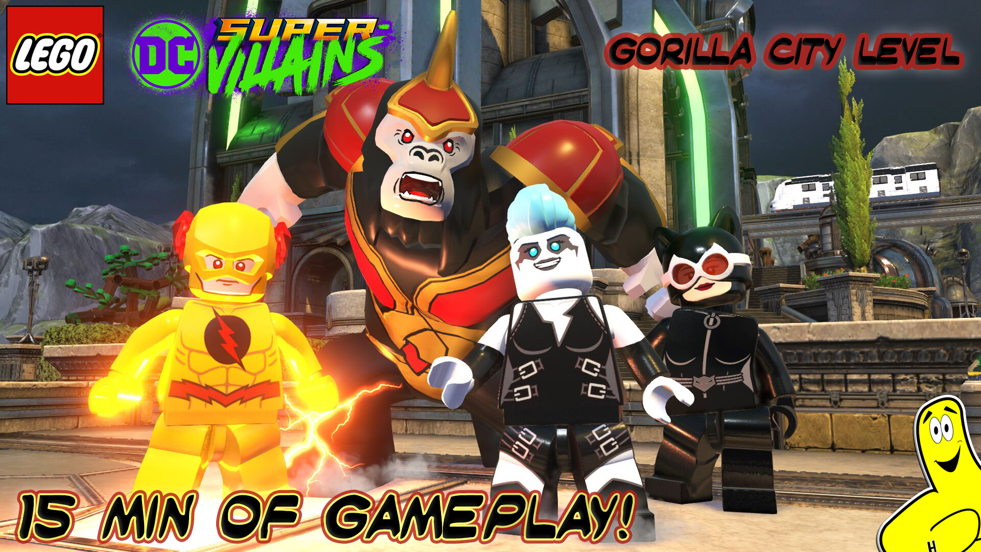 Lego DC Super-Villains: Gorilla City Level Gameplay (Gamescom Demo)- HTG