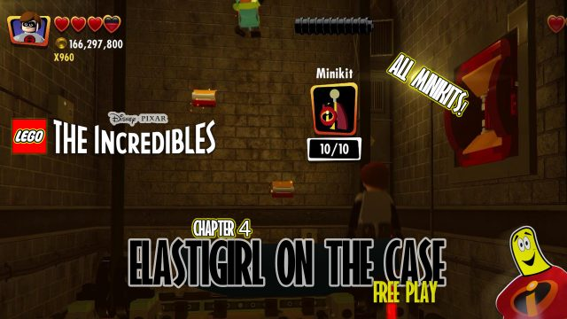 Lego The Incredibles: Elastigirl On The Case FREE PLAY (All 10 Minikits) – HTG