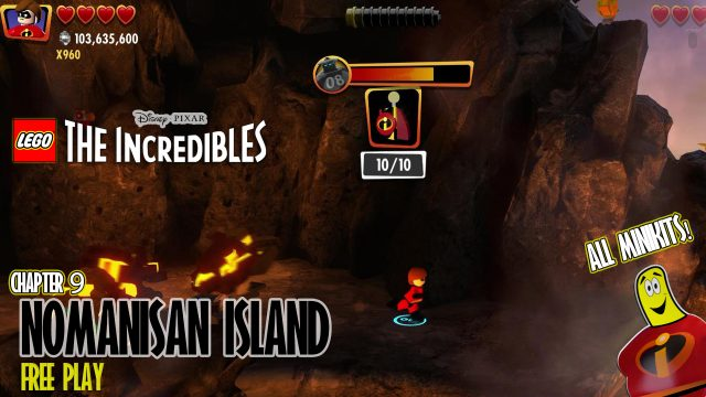Lego Lego The Incredibles: Nomanisan Island FREE PLAY (All 10 Minikits) – HTG