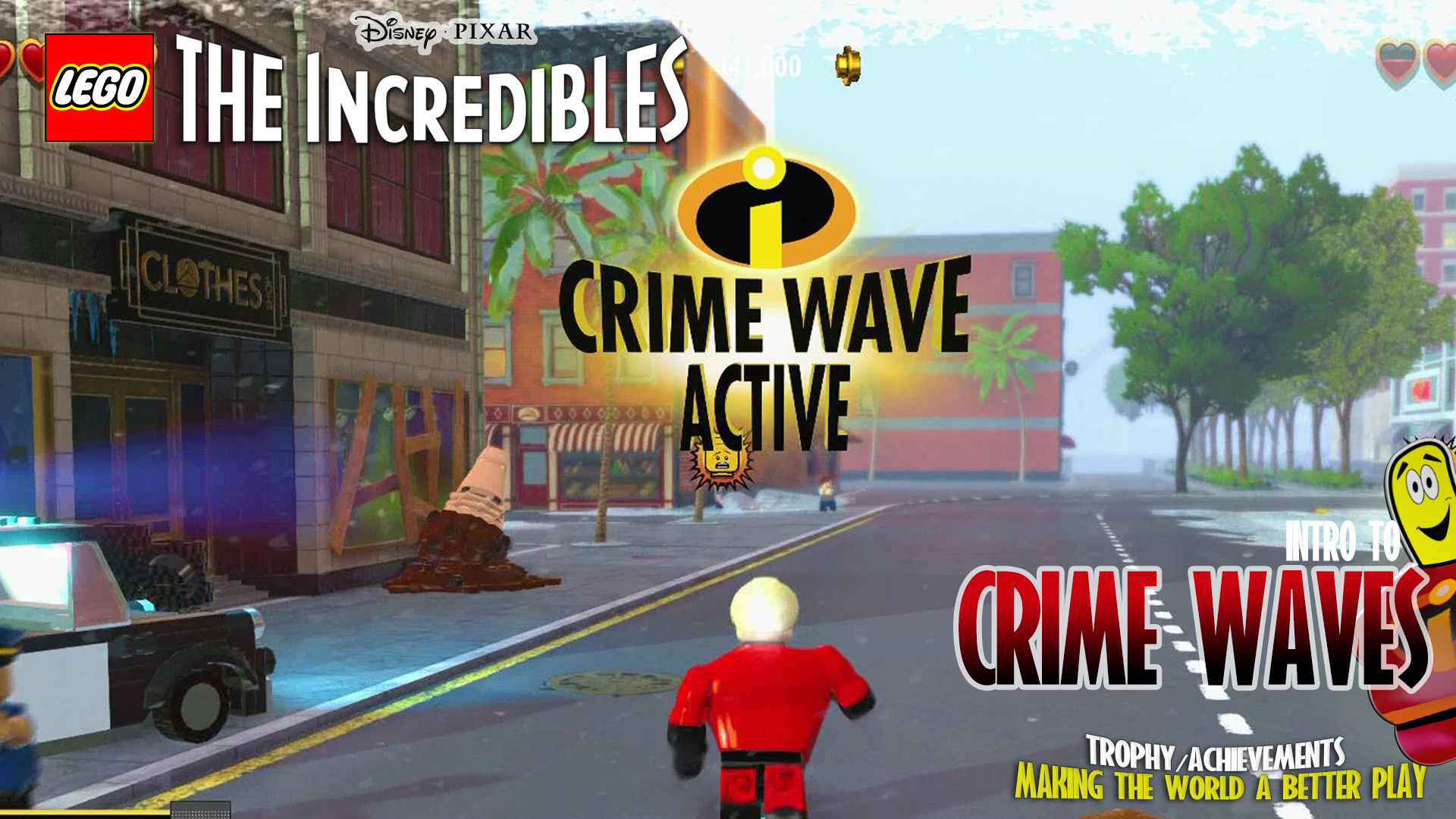 Lego The Incredibles: Intro to Crime Waves – HTG