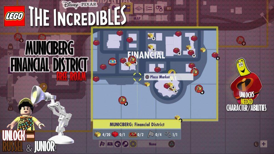Lego The Incredibles:  Municiberg Financial District FREE ROAM – HTG