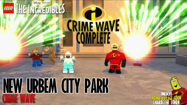 Lego The Incredibles: New Urbem / City Park CRIME WAVE – HTG