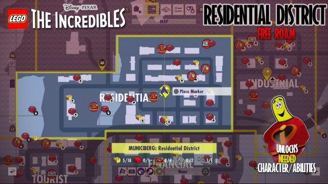 Lego The Incredibles: Residential District FREE ROAM – HTG