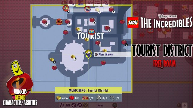 Lego The Incredibles: Tourist District FREE ROAM – HTG