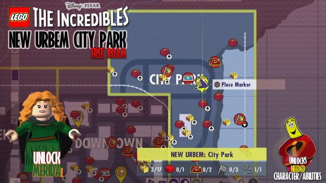 Lego The Incredibles: New Urbem City Park FREE ROAM – HTG