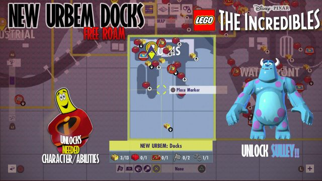 Lego The Incredibles: New Urbem Docks FREE ROAM – HTG