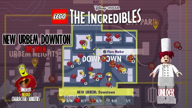 Lego The Incredibles: New Urbem Downtown FREE ROAM – HTG
