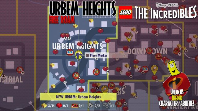 Lego The Incredibles: Urbem Heights FREE ROAM – HTG