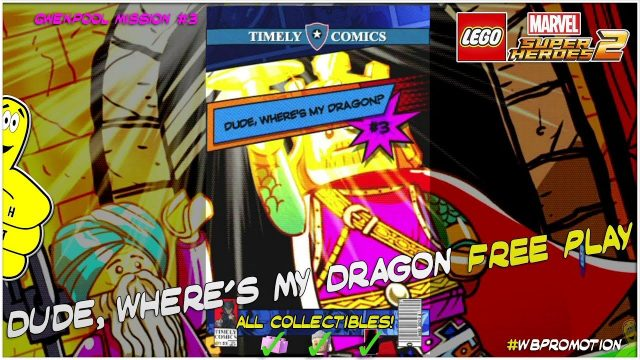 Lego Marvel Superheroes 2: Gwenpool Mission 3 / Dude Where's My Dragon FREE PLAY – HTG