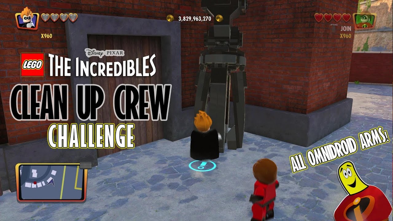Lego The Incredibles: Clean Up Crew CHALLENGE – HTG