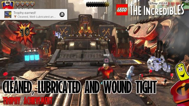 Lego The Incredibles: Cleaned, Well Lubricated and Wound Tight Trophy/Achievement – HTG